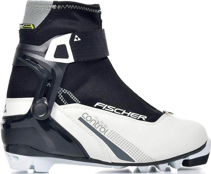 Ботинки лыжные женские Fischer XC Control My Style, цвет: белый. S28217. Размер 38S28217Лыжные ботинки Fischer XC Control My Style для стильных лыжниц. Комфортная модель с дышащей мембраной Triple-F и новой манжетой для поддержки голеностопа обеспечивает максимальный комфорт при катании.Ankle Support Cuff ASC3.Новая манжета обеспечивает хорошую торсионную жесткость и поддержку голеностопа. Индивидуальная регулировка при помощи ремешка Powerstrap.Thermo Fit.Термоформируемый материал внутреннего ботинка обладает прекрасными изоляционными свойствами и легко адаптируется по ноге.Easy Entry Loops.Широкое раскрытие ботинка и практичная петля на пятке облегчают надевание/снимание ботинок.Gaiter Ring.Кольцо-крепление, подходящие для всех популярных моделей гамашей, для дополнительной защиты от снега и влаги.Velcro Strap.Застежка на липучке, для быстрого регулирования и застегивания/расстегивания.Lace Cover.Дополнительная защита шнуровки, предотвращает проникновение влаги и холода.Triple F Membrane.Влагонепроницаемая мембрана, обладающая дышащими свойствами, позволяет ногам оставаться сухими в любую погоду.Comfort Guard.Очень легкий, водоотталкивающий изоляционный материал. Дополнительно защищает от холода мысок и переднюю часть стопы.