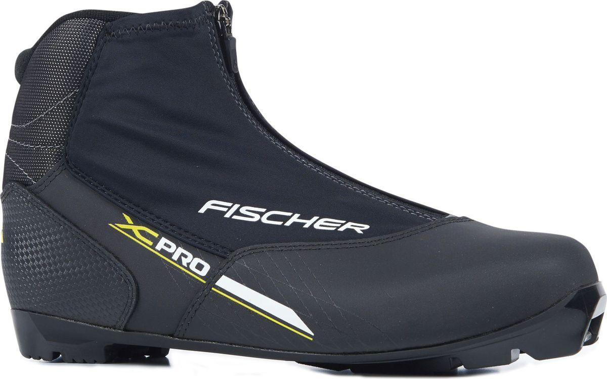 Ботинки лыжные мужские Fischer  XC Pro , цвет: желтый, черный. S21817. Размер 48 - Беговые лыжи