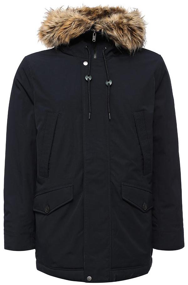 Куртка мужская Sela, цвет: темно-синий. Cp-226/401-7412. Размер XXL (54)Cp-226/401-7412Мужская куртка от Sela выполнена из плащевки. Модель свободного кроя с длинными рукавами и втачным капюшоном застегивается на молнию и имеет ветрозащитный клапан на кнопках. Капюшон декорирован опушкой из искусственного меха. По бокам модель дополнена карманами с клапанами, на груди – прорезными карманами.