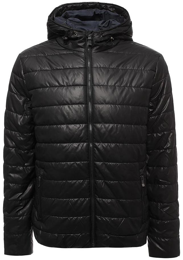 Куртка мужская Sela, цвет: черный. Cp-226/407-7311. Размер XL (52)Cp-226/407-7311Мужская куртка от Sela выполнена из плащевки. Модель укороченного кроя с длинными рукавами и втачным капюшоном застегивается на молнию. По бокам модель дополнена карманами на молниях.