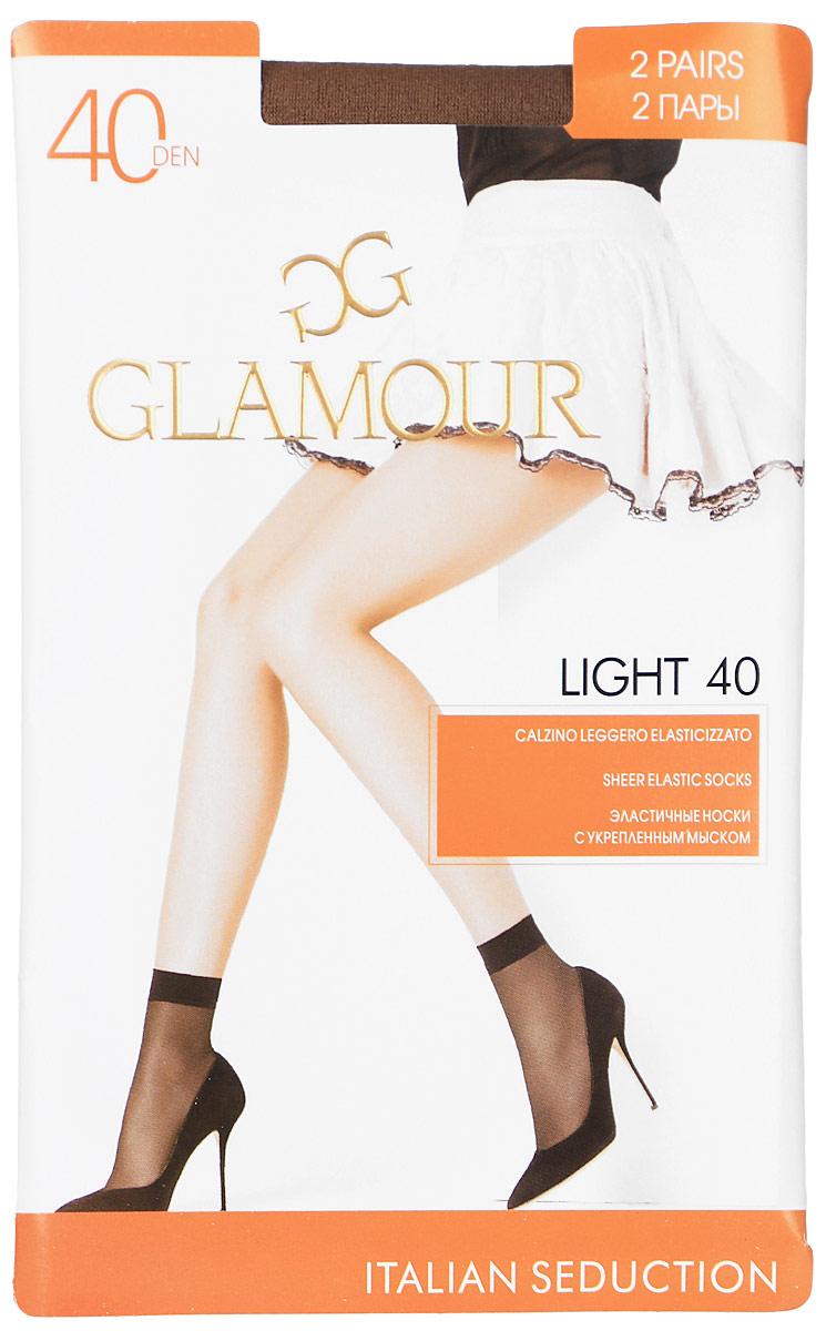 Носки женские Glamour Light 40, цвет: Daino (загар). 25808. Размер универсальный25808