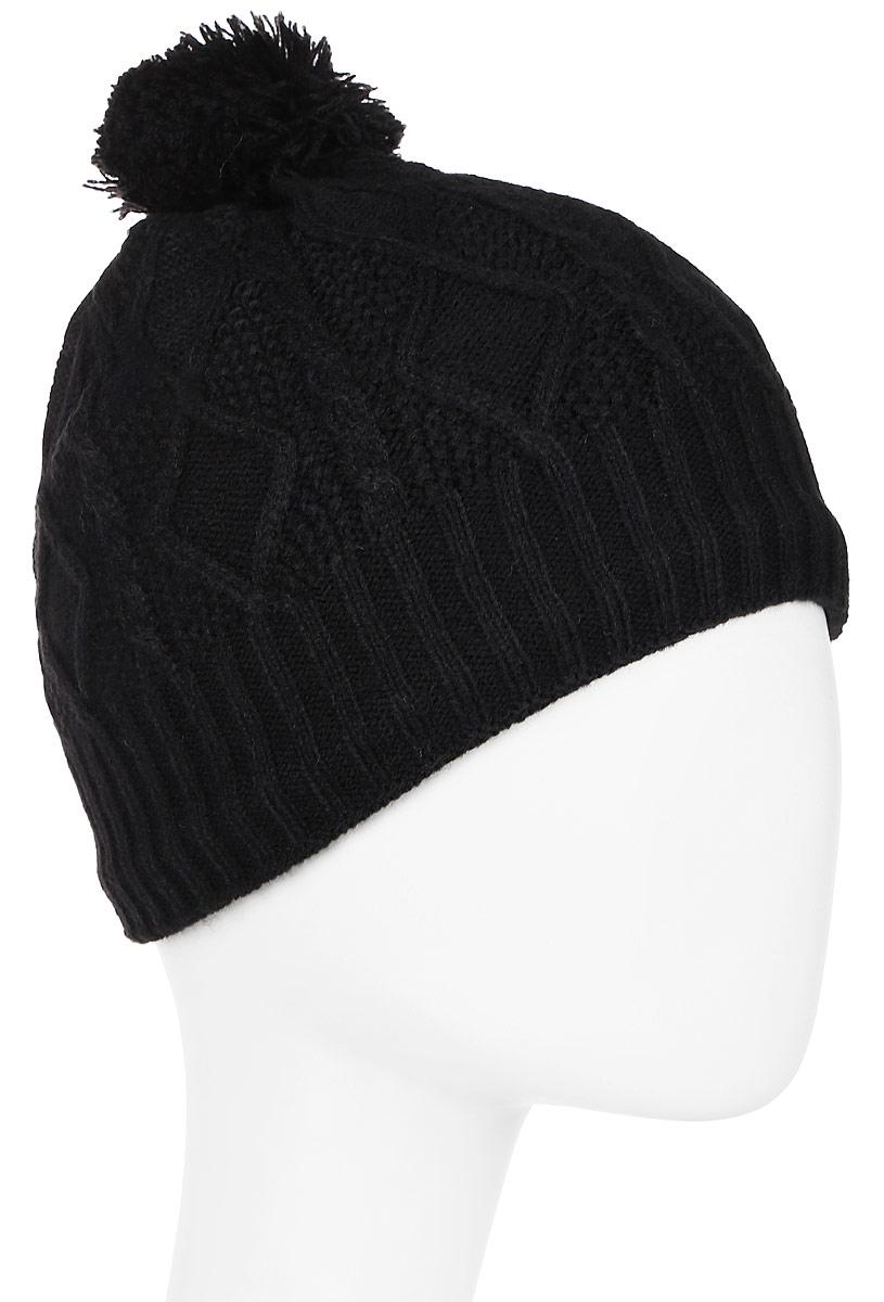 Шапка женская Icepeak, цвет: черный. 855841691IV-990. Размер универсальный855841691IV-990