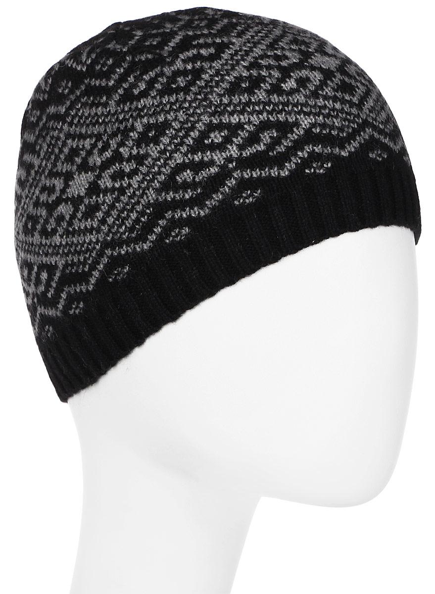 Шапка женская Luhta, цвет: черный, серый. 838608300LV-990. Размер универсальный