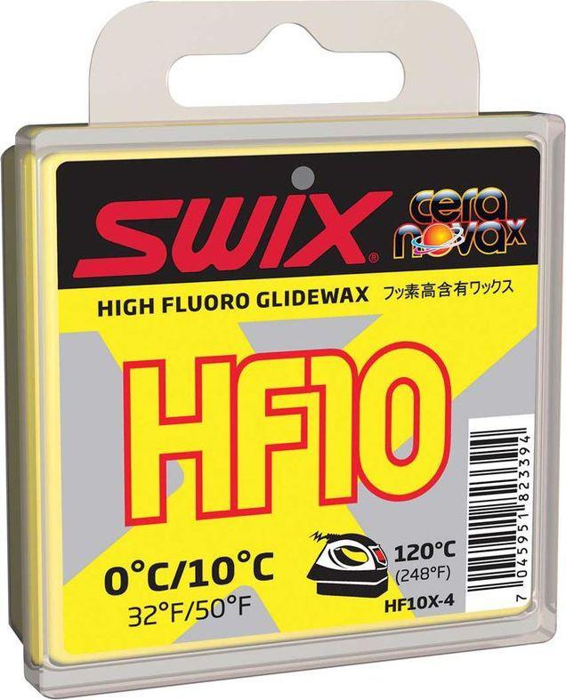 Мазь скольжения Swix HF10X Yellow, 40 гHF10X-4Фторосодержащая мазь скольжения Swix HF10X Yellow, 40 предназначена для смазывания беговых лыж во время мокрого свежевыпавшего снега и искусственного снега. Хорошо работает при чистом снеге. Легко наносится. Многочисленные тесты показали, что новая мазь с усовершенствованной формулой, более твердая, чем HF10, лучше работает в указанном температурном диапазоне, по сравнению со старой классикой, особенно при использовании самостоятельно. Скорректированная твердость также делает новую мазь более износоустойчивой.Может использоваться в качестве гоночной мази, но чаще всего - как базовый слой под порошок FC10X. Температурный диапазон от +10°C до 0°С.Рекомендуемая температура утюга 120°С.
