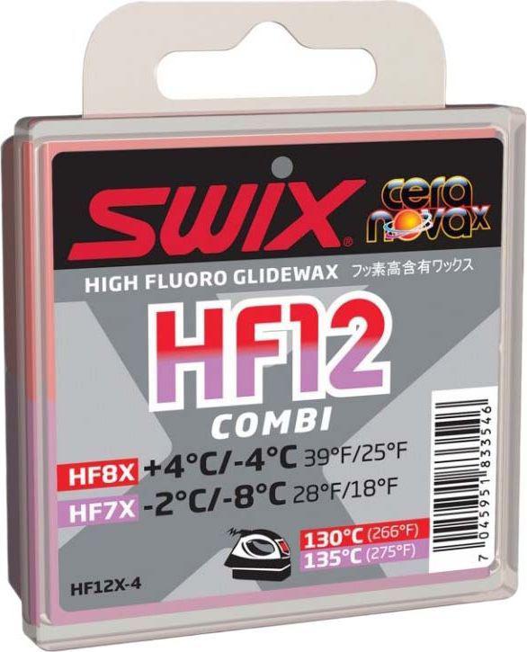 Набор мазей скольжения Swix HF12X Combi: HFX7, HFX8, 2 х 20 гHF12X-4Набор мазей скольжения Swix HF12X Combi состоит из двух самых востребованных мазей. Мазь скольжения предназначена для смазывания беговых лыж. Мази изготовленыиз фторзамещенных углеводородов с высоким содержанием фторуглерода.
