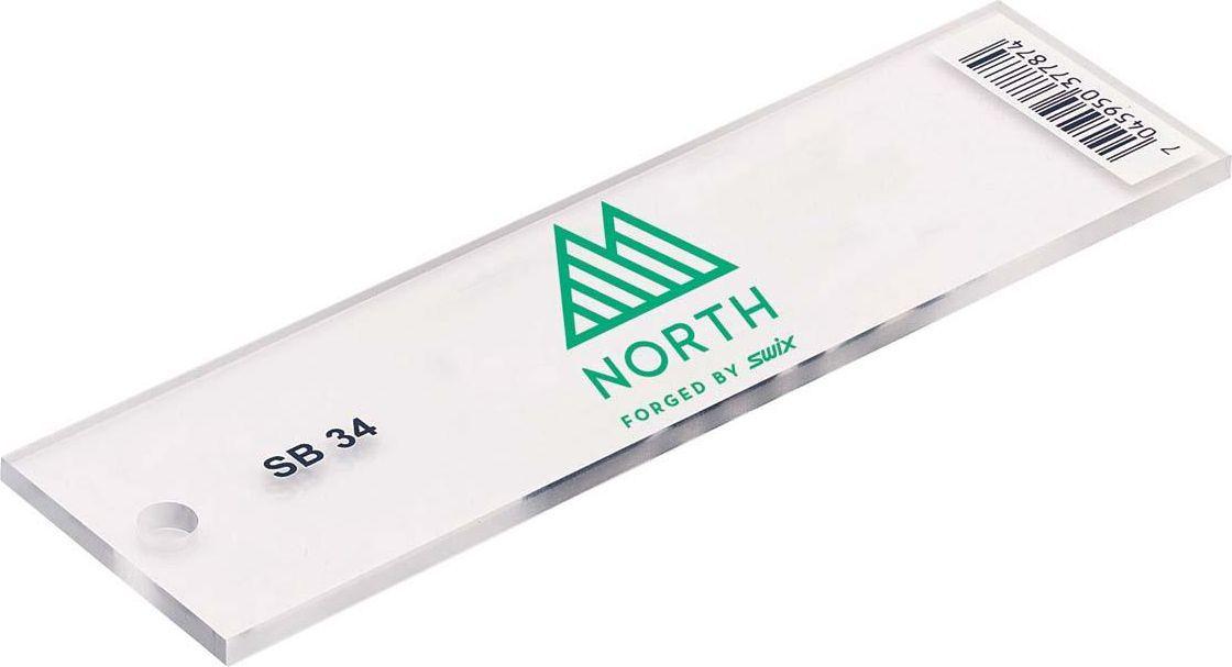 Скребок для сноуборда Swix NorthSB034NOСкребок из оргстекла для сноуборда.Удаляет излишки мази с поверхности, обеспечивает оптимальное скольжение.