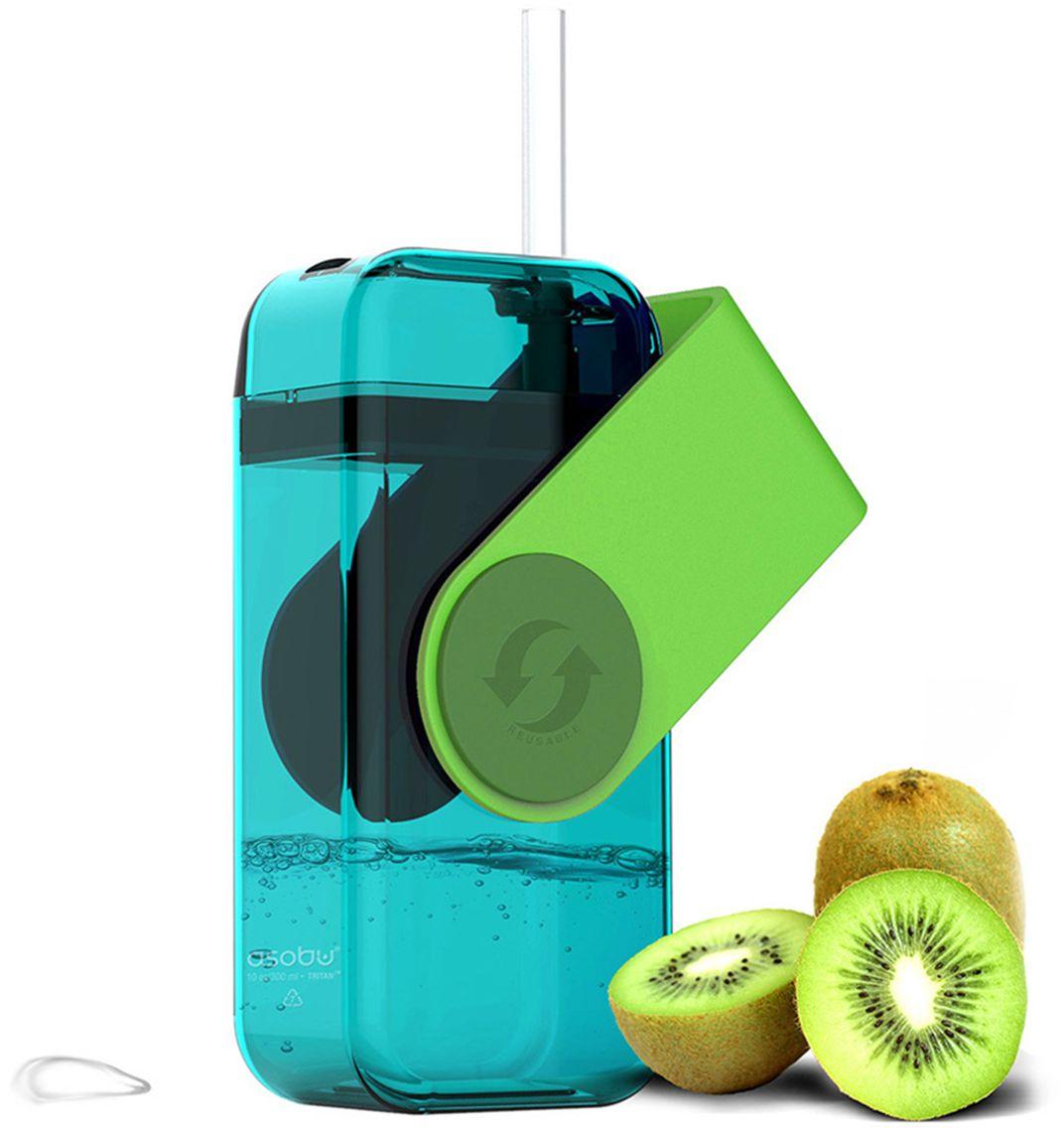 Бутылка Asobu Juicy drink box, цвет: зеленый, 290 мл бутылка 0 4 л asobu ice t 2 go фиолетовая it2go violet