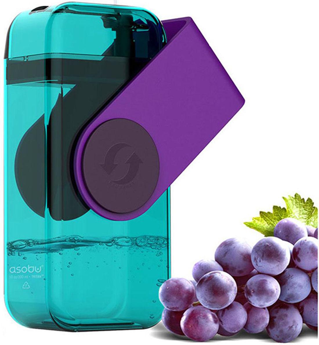 Бутылка Asobu Juicy drink box, цвет: фиолетовый, 290 мл бокс рский мешок не наполненный