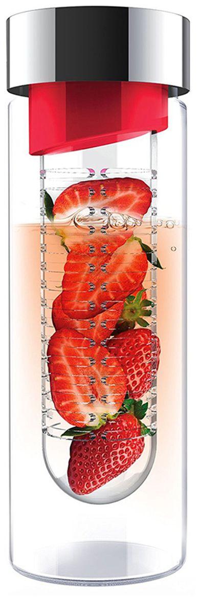 Бутылка Asobu Flavour it, цвет: красный, 480 млSWG11 red-silverПриготовьте сказочно вкусные напитки вместе с Asobu Flavour it! Положите в ситечко кусочки любимых фруктов, добавьте мяты, залейте водой и наслаждайтесь невероятно полезным и вкусным напитком! С Asobu Flavour it Вы можете эксперементировать каждый день, используя разные сочетания фруктов.Asobu Flavour it идеально подходит для:- занятий спортом;- прогулок на природе;- путешествий;- школы и офиса.