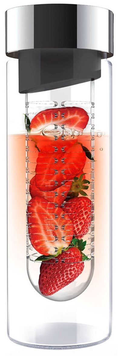 Бутылка Asobu Flavour it, цвет: серый, 480 млSWG11 smoke-silverПриготовьте сказочно вкусные напитки вместе с Asobu Flavour it! Положите в ситечко кусочки любимых фруктов, добавьте мяты, залейте водой и наслаждайтесь невероятно полезным и вкусным напитком! С Asobu Flavour it Вы можете экспериментировать каждый день, используя разные сочетания фруктов.Asobu Flavour it идеально подходит для:- занятий спортом;- прогулок на природе;- путешествий;- школы и офиса.Особенности:- Объем 480 мл. - BPA FREE (материал, из которого изготовлено изделие, не содержит Бисфенол А).- Ударопрочный пластик.- Устойчив к холодным и горячим напиткам.- Откидывающаяся крышка.