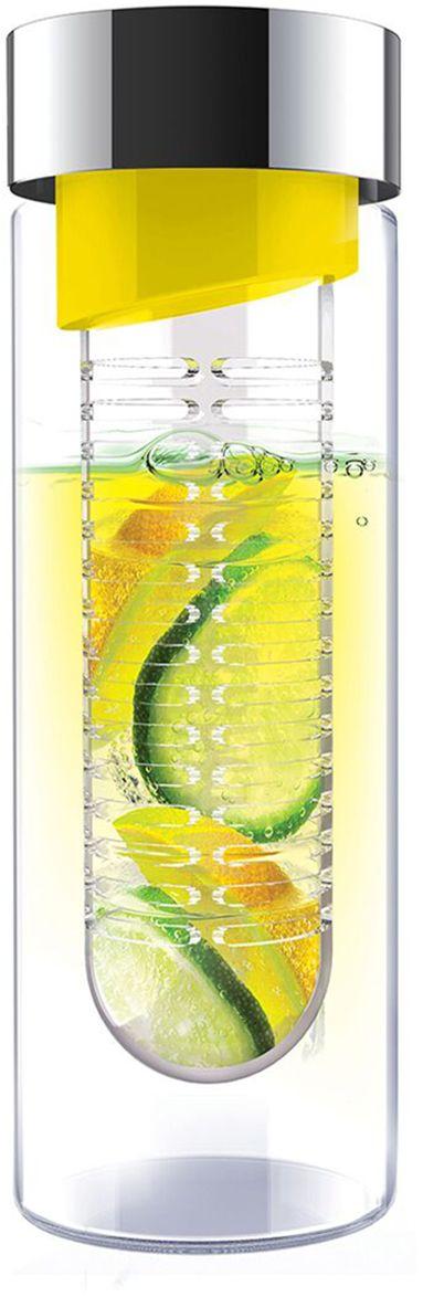 Бутылка Asobu Flavour it, цвет: желтый, 480 млSWG11 yellow-silverПриготовьте сказочно вкусные напитки вместе с Asobu Flavour it! Положите в ситечко кусочки любимых фруктов, добавьте мяты, залейте водой инаслаждайтесь невероятно полезным и вкусным напитком! С Asobu Flavour it Вы можете экспериментировать каждый день, используя разныесочетания фруктов.Asobu Flavour it идеально подходит для:- занятий спортом; - прогулок на природе; - путешествий; - школы и офиса.Особенности:- Объем 480 мл.- BPA FREE (материал, из которого изготовлено изделие, не содержит Бисфенол А). - Ударопрочный пластик. - Устойчив к холодным и горячим напиткам. - Откидывающаяся крышка.