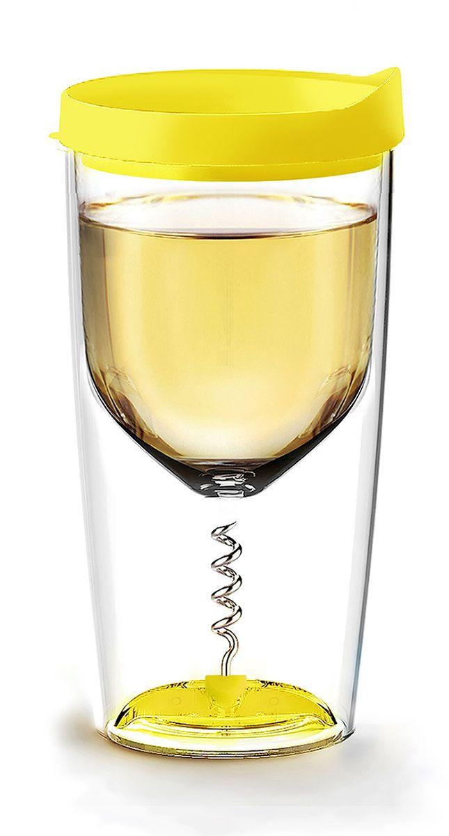 Стакан Asobu Vino opener, цвет: желтый, 350 млVOC1 yellowAsobu – бренд посуды для питья, выделяющийся творческим, оригинальным дизайном и инновационными решениями.Asobu разработан Ad-N-Art в Канаде и в переводе с японского означает «весело и с удовольствием». И действительно, только взгляните на каталог представленных коллекций и вы поймете, что Asobu - посуда, которая вдохновляет!Кроме яркого и позитивного дизайна, Asobu отличается и качеством материалов из которых изготовлена продукция – это всегда чрезвычайно ударопрочный пластик и 100% BPA Free.За последние 5 лет, благодаря своему дизайну и функциональности, Asobu завоевали популярность не только в Канаде и США, но и во всем мире!Хотите показать своим друзьям, как выглядит настоящий бокал для вечеринок? Asobu Vino opener ошеломляет своей изобретательностью!Отдыхаете Вы на пляже или пикнике, а может вечеринка у вас дома - Vino opener идеален для любого случая. Все потому, что это универсальный стакан-бокал с двойными акриловыми стенками, штопором и плотной силиконовой крышкой.