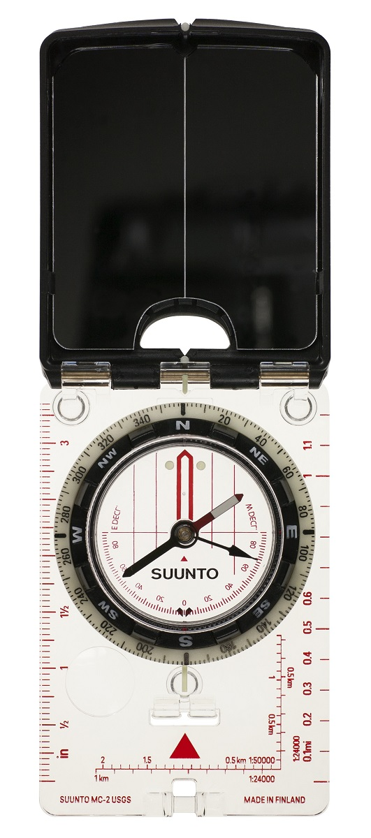 Компас Suunto MC-2 NH USGS Mirror Compass, цвет: белый компас suunto arrow 6 nh compass цвет белый