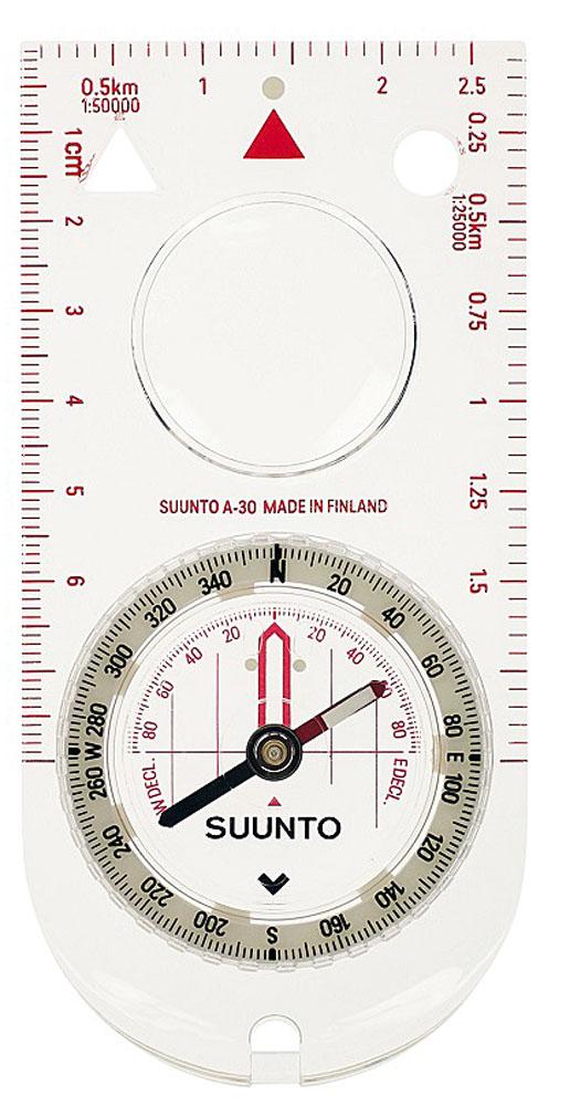 Компас Suunto A-30 SH Metric Compass, цвет: белыйSS012095014Suunto A-30 SH Metric Compass - компас для искателей приключений. Для навигации и выживания вэкстремальныхусловиях необходим надежный компас. Эти высокопрочные компасы на основании всегда готовы к испытаниям.Компактный точный компас для пеших прогулок и ориентирования на местности, который может использоватьсятакже в условиях недостаточной видимости. Особенности: Возможность использования в условиях плохого освещения за счет использования светящейся маркировки Увеличительное стекло на прозрачном основании для удобного чтения карты Стрелка из высокосортной стали с подшипником на драгоценном камне Оптимизирован для южного полушария Фиксированная шкала коррекции склонения Жидкостная капсула для стабильной работы Люминесцентные метки для работы в условиях низкой освещенности: безель, ориентировочные метки инаправление движения Шкала направления: градусы Метрические шкалы Жидкостный, сапфировые опоры осей Фиксация курса с индикатором ориентирования Основание с увеличительным стеклом Контрольные маркировочные отверстия Съемный шнурок, фиксирующийся с помощью защелки; легко снимается для работы с картой Ограниченная пожизненная гарантия Suunto Сделан в Финляндии Коррекция отклонения: фиксированная шкала Устойчивость к давлению воды Батарея не требуется Характеристики: Размеры: 114 x 56 x 10 мм / 4.49 x 2.2 x 0.39  Вес: 32 г Материал безеля: пластик Метрические шкалы: cm, 1:25 000 m, 1:50 000 m Точность компаса: 2.5° Дискретность компаса: 2°.