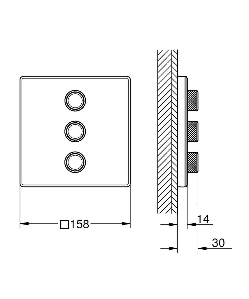 """Получите интуитивно понятное управление и передовой дизайн вместе с вентилем Grohtherm SmartControl на три выхода.   Стильный вентиль Grohtherm SmartControl позволит вам конфигурировать идеальное принятие ванны или душа, легко переключаясь между четырьмя потребителями - ванной, верхним душем или режимами струи душа - и все при нажатии кнопки.   Совмещенный с термостатом Grohtherm SmartControl на 1 выход (29153LS0), этот вентиль в цвете """"белая луна"""" предоставит вам абсолютную свободу выбора: вы сможете контролировать четыре потребителя для идеального сочетания душа и ванны, что даст вам еще больше вариантов выбора и конфигурации между режимами струи и источниками воды.   Инновационная технология SmartControl позволит вам регулировать напор воды с помощью нажатия и поворачивания кнопки.   Маркировка EasyLogic и иконки на кнопках с заменяемыми символами делают использование вентиля интуитивно понятным.   Благодаря системе GROHE QuickFix вентиль легко установить.   Тонкий профиль вентиля делает его поддержание в чистоте очень простым, а надежное хромовое покрытие GROHE StarLight сохранит свой блеск на долгие годы.   Благодаря его утонченному современному дизайну, вентиль сможет усовершенствовать дизайн вашей ванной комнаты.   Пожалуйста, обратите внимание, что этот продукт должен быть установлен в комбинации с универсальной встраиваемой частью GROHE Rapido SmartBox (35600000) и термостатом скрытого монтажа Grohtherm SmartControl (29153LS0)."""