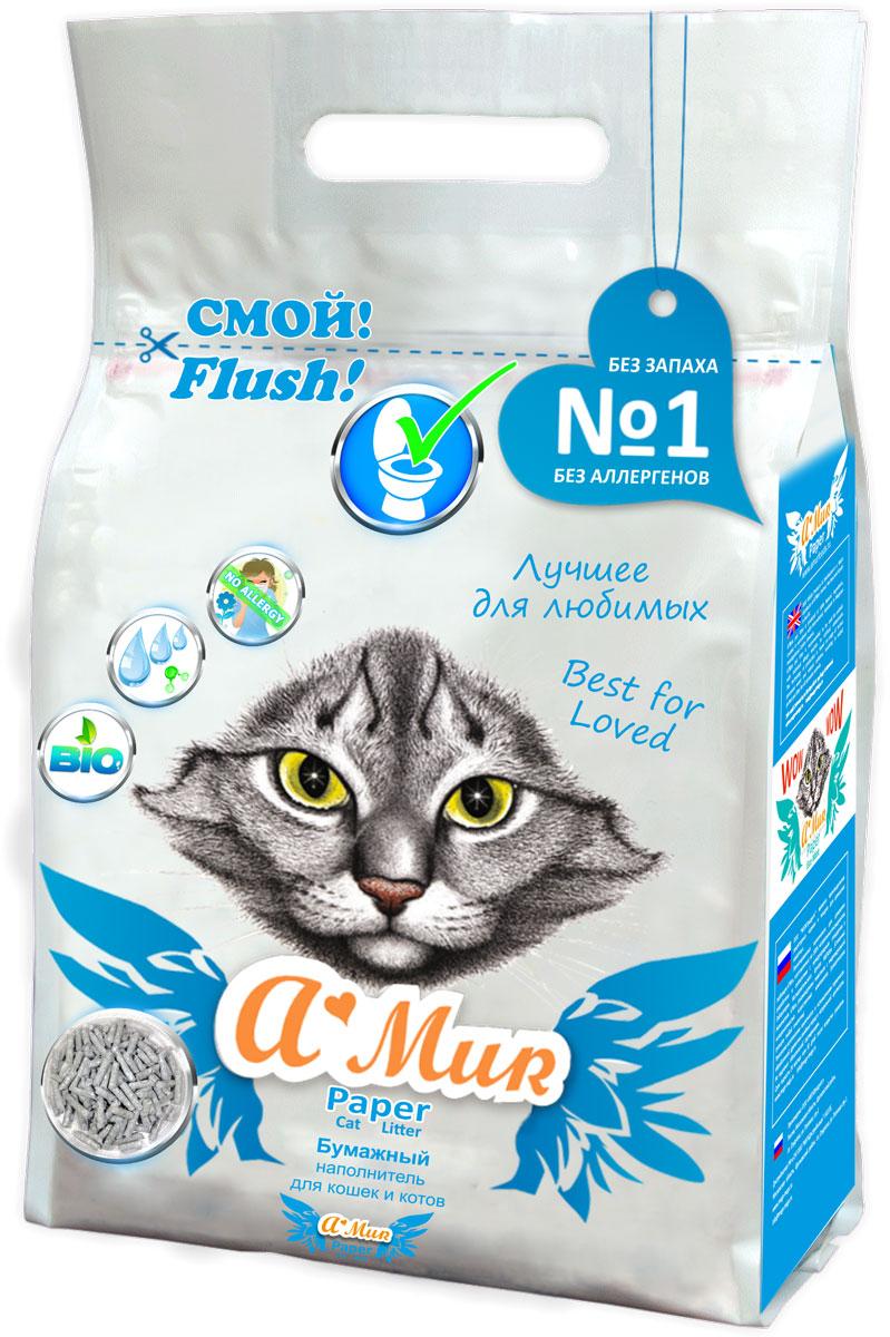 Наполнитель для кошачьего туалета AMUR, бумажный, для котят, 6 л50029Наполнитель бумажный AMur для котят, для лотков и для кошачьих туалетов.