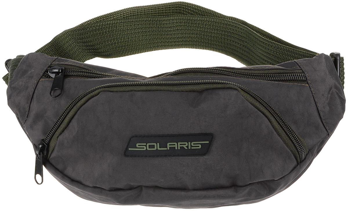 Сумка на пояс Solaris, 34 х 7 х 14 смS5405Классическая поясная сумка Solaris предназначена для автомобилистов, туристов и ношения в городе. Может использоваться в качестве дополнительного элемента экипировки вместе с дорожной сумкой или рюкзаком. Сумка имеет 3 отделения: основное отделение с внутренним потайным карманом на молнии и накладной карман спереди. Большая регулировка поясного ремня по талии позволяет носить сумку и на верхней одежде. Сумка выполнена из высококачественной армированной непромокаемой ткани Stone Washed (жатка), полиэстера и ПВХ.Размеры сумки: 34 х 7 х 14 см.Регулировка по талии от 85 до 132 см.