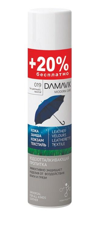 Пропитка водоотталкивающая Damavik, 300 мл9007Пропитка Damavik эффективно защищает от воздействия влаги и грязи. Предотвращает образование солевых разводов, а также пятен от контакта со снегом, водой и другими жидкостями.