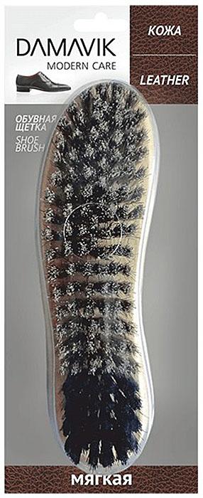 Щетка для обуви Damavik, мягкая9930Искусственный ворс щадяще очищает пыль и грязь. Мягкая щетка деликатно распределяет крем по поверхности обуви. Идеальна для полировки обуви.