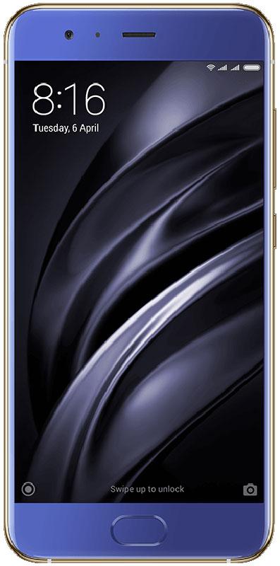 Xiaomi Mi 6 (128GB), BlueMi 6_128GB_BlueXiaomi Mi 6 - стильный и мощный смартфон с дисплеем 5.15 дюйма.Два объектива с разрешением матрицы в 12 Мпикс и разным фокусным расстоянием – широкоугольным и телеобъективом, система 4- осевой OIS стабилизации позволяют получать профессиональные портреты с размытым фоном и добиваться особой четкости снимка в любых условиях.Mi 6 использует технологию Wi-Fi 2x2, которая значительно повышает производительность беспроводной сети, улучшает качество сигнала в помещении, увеличивает скорость соединения до 100% и уменьшает количество мертвых зон.Qualcomm Snapdragon 835 компактнее и потребляет меньше энергии, чем предыдущее поколение процессоров. Три миллиарда транзисторов способны выполнять любые задачи весь день от одного заряда.Mi 6 изготовлен с профессиональной точностью из лучших материалов.Стеклянный корпус загнут со всех сторон, каркас выполнен из нержавеющей стали.Mi 6 – это демонстрация стремления постоянно совершенствовать дизайн и расширять возможности современных технологий. Обтекаемый корпус гармонично сочетает нержавеющую сталь и стекло. Он удивительно приятно лежит в руке.Защита от брызгВсе разъемы герметично закрыты и защищены.Телефон сертифицирован EAC и имеет русифицированный интерфейс меню, а также Руководство пользователя.