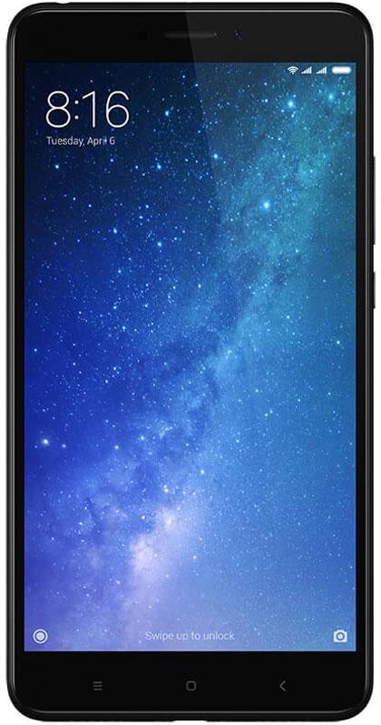 Xiaomi Mi Max 2 (64GB), BlackMIMAX2BL64GBСмартфон Xiaomi Mi Max 2 имеет большой экран и мощную батарею. Размер экрана 6,4 (самый большой среди смартфонов Xiaomi). Смотреть фильмы и играть стало удобнее.Металлический корпус комфортно лежит в руке благодаря обтекаемому корпусу.Камера Sony IMX386 позволяет фотографировать в условиях слабой освещённости.Смартфон оснащен 8-ядерным процессором Snapdragon 625и 4 ГБ оперативной памяти. Игры на Mi Max 2 не тормозят Двойной динамик даёт объёмное стерео-звучание.Смотрите видео и отвечайте на сообщения одновременно Делайте заметки во время чтения текстов и сообщений.Объемное звучание в сочетании с большим экраном создают прекрасное устройство для просмотра фильмов и игр.Телефон сертифицирован EAC и имеет русифицированный интерфейс меню, а также Руководство пользователя.