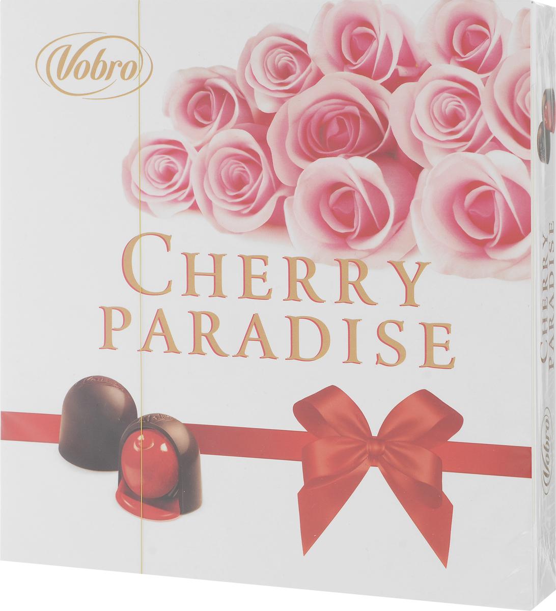 Vobro Cherry Paradise набор шоколадных конфет вишня в ликере, 105 г пудовъ кексики шоколадные 250 г