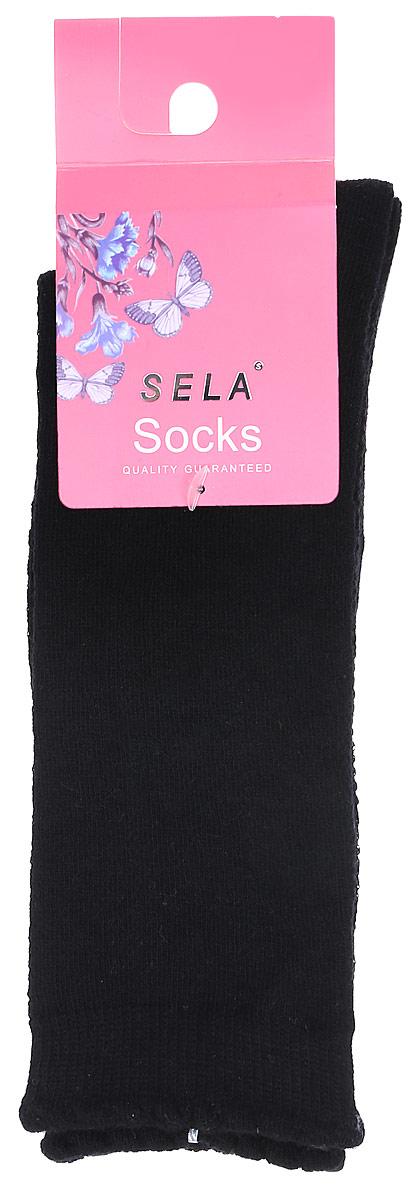 Гольфы для девочки Sela, цвет: черный. SOKL-4/189-7311. Размер 18/20SOKL-4/189-7311Детские гольфы Sela, изготовленные из высококачественного материала, идеально подойдут вашему ребенку. Благодаря содержанию мягкого хлопка и полиамида в составе кожа сможет дышать, а эластан делает гольфы более комфортными в носке. Эластичная резинка плотно облегает ножку ребенка, не сдавливая ее, обеспечивая комфорт и удобство.