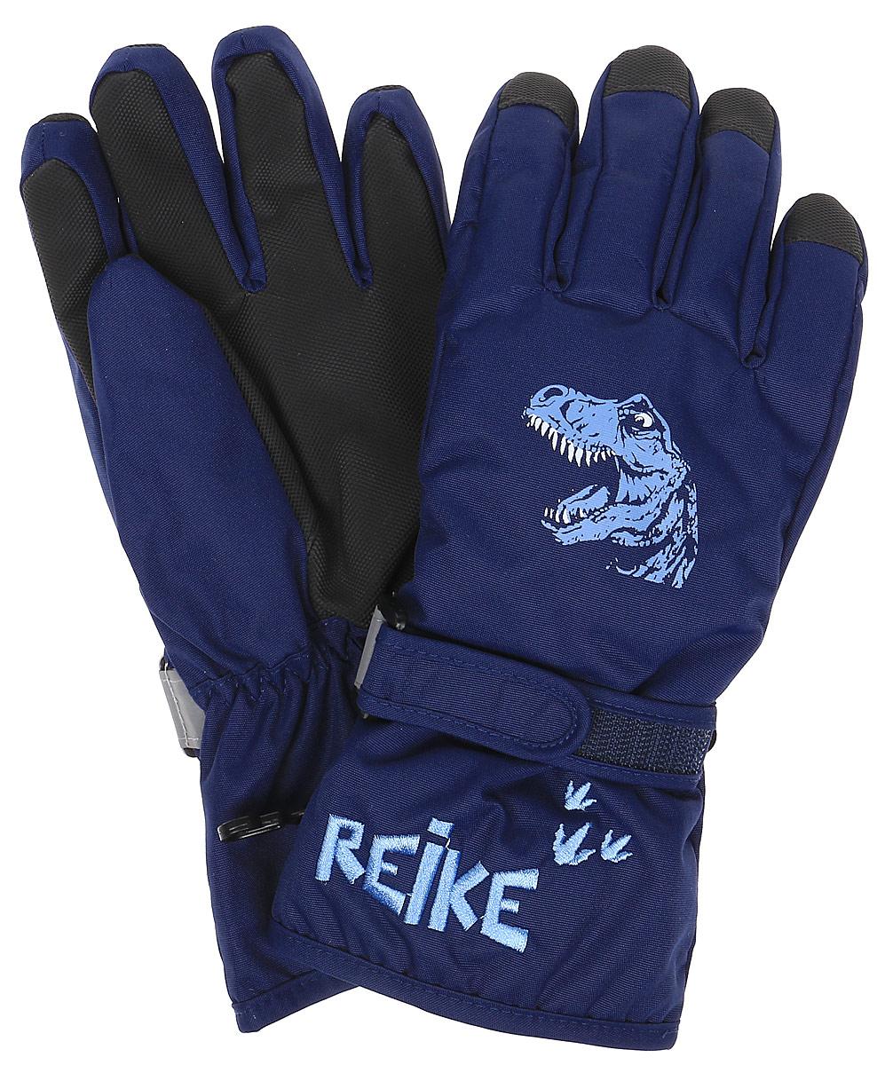 Перчатки для мальчика Reike Динозавр, цвет: темно-синий. RW18_DNS navy. Размер 8 перчатки reike