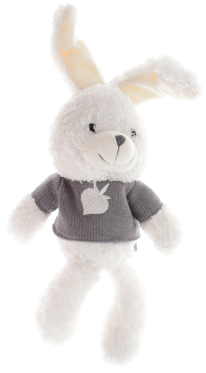 Gulliver Мягкая игрушка Зайчик Билли цвет белый серый 25 см bardot neckline scallop hem dress
