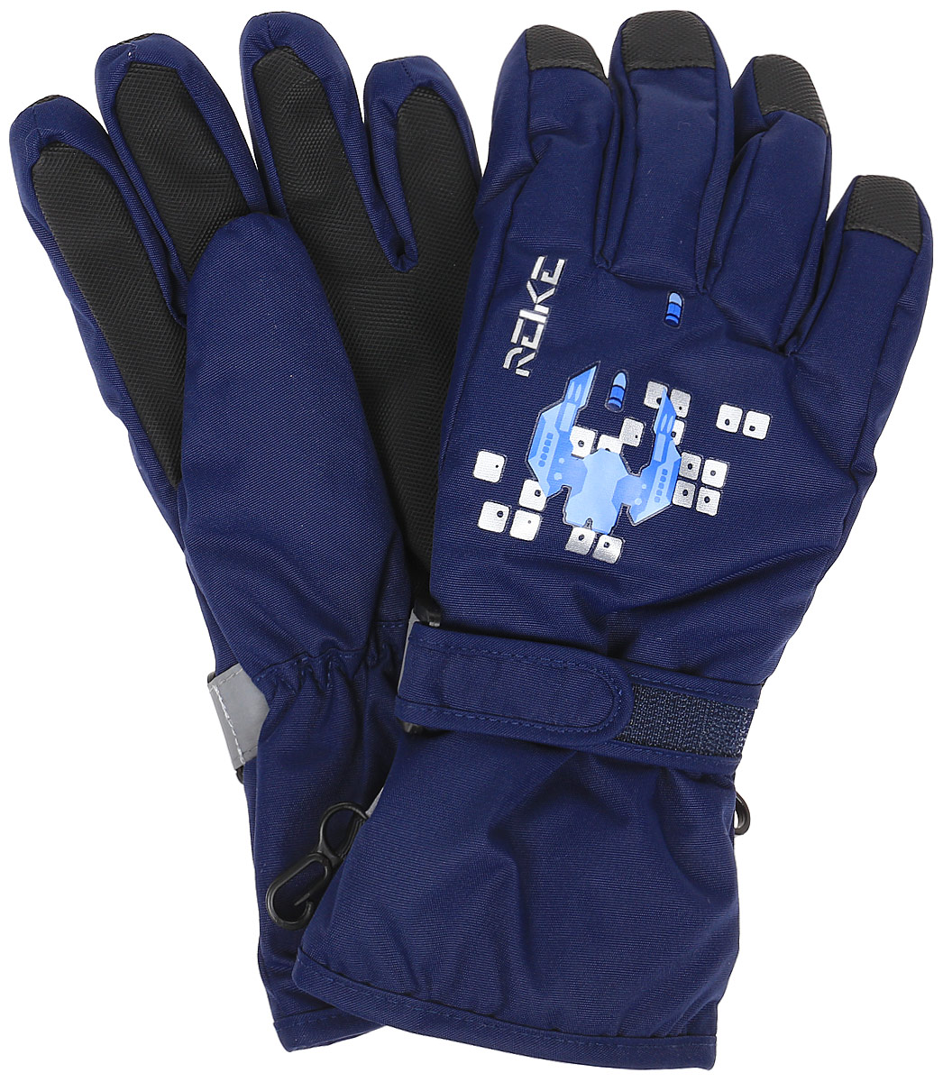 Перчатки для мальчиков Reike, цвет: темно-синий. RW18_GLX navy. Размер 6RW18_GLX navy