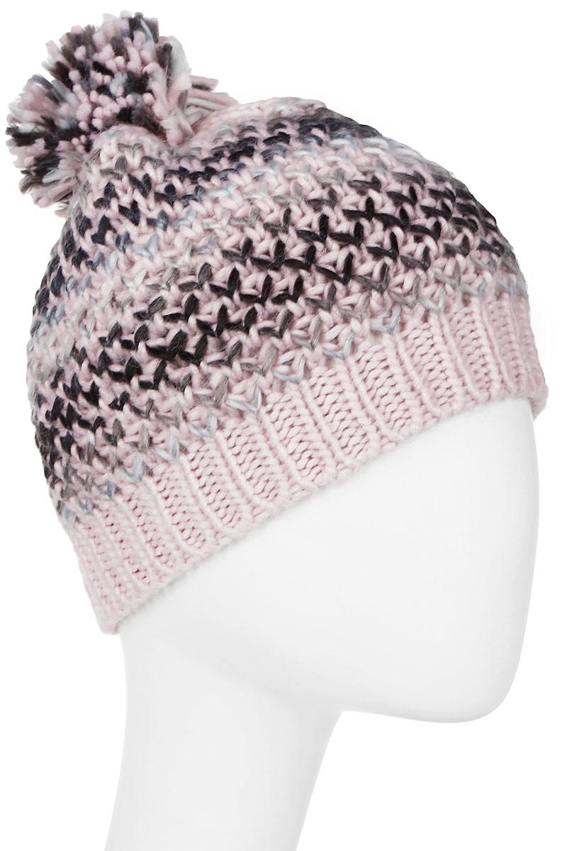 Шапка женская Luhta, цвет: светло-розовый, черный. 838638845LV-620. Размер универсальный838638845LV-620