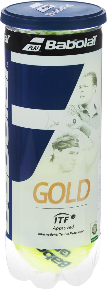 Теннисные мячи Babolat Gold Pet, 3 шт501043Качественные мячи под давлением.Отличное сочетание чувства мяча и долговечности. Банка 3 мяча.В коробке 24 банки.