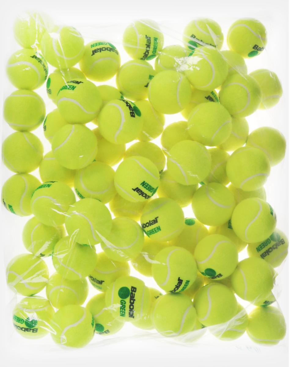 Мячи теннисные Babolat Green, детские, 72 шт512005Теннисные мячи Babolat Green, выполненные из каучука и войлока, идеально подходит для взрослых начинающих и детей. Скорость отскока мяча на 25% медленнее, чем у стандартного.