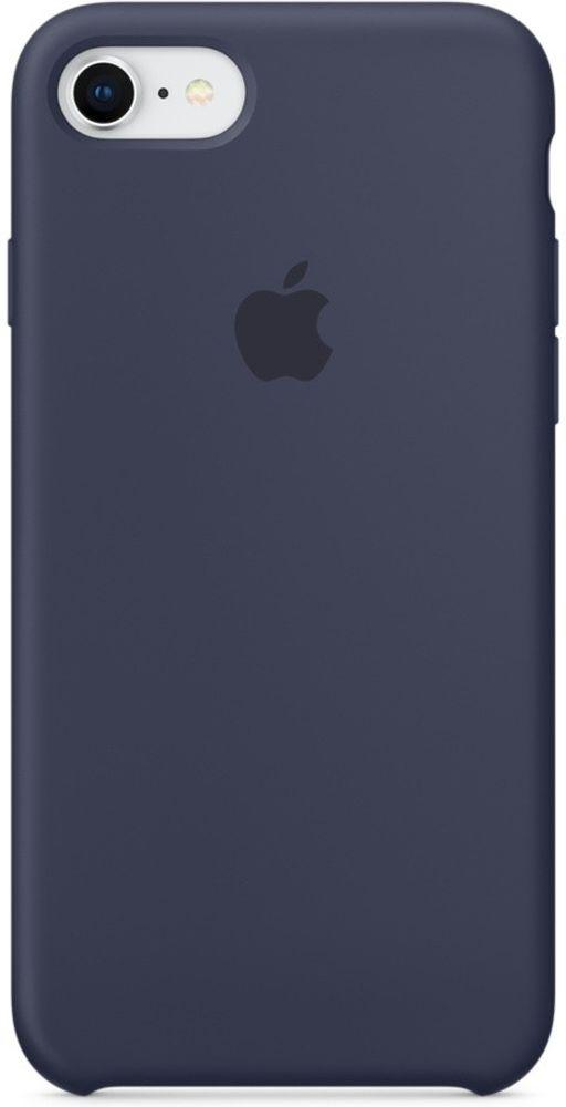 Apple Silicone Case чехол для iPhone 7/8, Midnight BlueMQGM2ZM/AСиликоновый чехол от Apple - отличное дополнение к вашему iPhone. Он плотно прилегает к кнопкам громкости и режима сна и точно повторяет контуры телефона, сохраняя его тонкий профиль. Мягкая подкладка из микрофибры защищает корпус iPhone. А внешняя силиконовая поверхность приятна на ощупь.