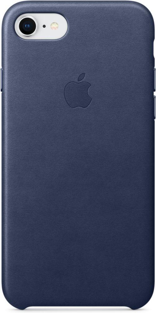 Apple Leather Case чехол для iPhone 7/8, Midnight BlueMQH82ZM/AКожаный чехол для iPhone 7/8 точно повторяет контуры iPhone, сохраняя его тонкий профиль. Он изготовлен из специально обработанной, приятной на ощупь кожи европейского производства и со временем покрываются благородной патиной. Цвет алюминиевых кнопок идеально подходит к чехлу. А его подкладка из микрофибры защищает корпус iPhone.