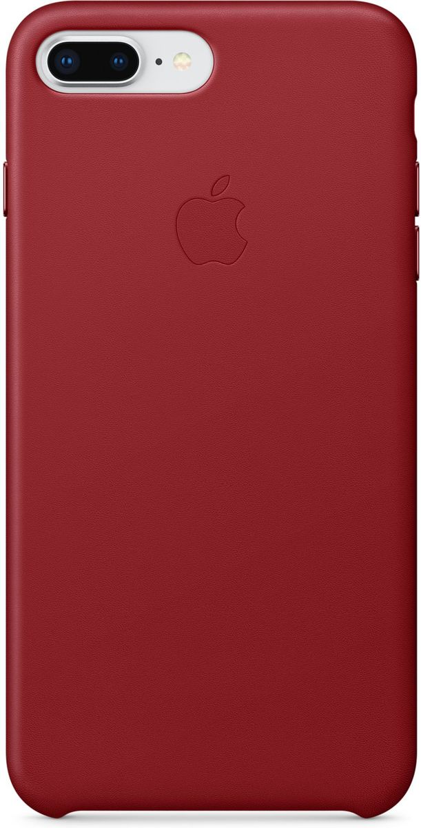 Apple Leather Case чехол для iPhone 7 Plus/8 Plus, Product Red - Чехлы