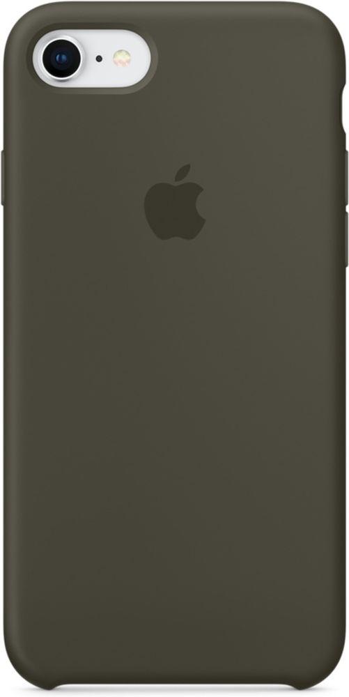 Apple Silicone Case чехол для iPhone 7/8, Dark OliveMR3N2ZM/AСиликоновый чехол от Apple — отличное дополнение к вашему iPhone. Он плотно прилегает к кнопкам громкости и режима сна и точно повторяет контуры телефона, сохраняя его тонкий профиль. Мягкая подкладка из микрофибры защищает корпус iPhone. А внешняя силиконовая поверхность приятна на ощупь.