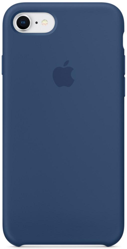 Apple Silicone Case чехол для iPhone 7/8, Blue CobaltMQGN2ZM/AСиликоновый чехол от Apple - отличное дополнение к вашему iPhone. Он плотно прилегает к кнопкам громкости и режима сна и точно повторяет контуры телефона, сохраняя его тонкий профиль. Мягкая подкладка из микрофибры защищает корпус iPhone. А внешняя силиконовая поверхность приятна на ощупь.