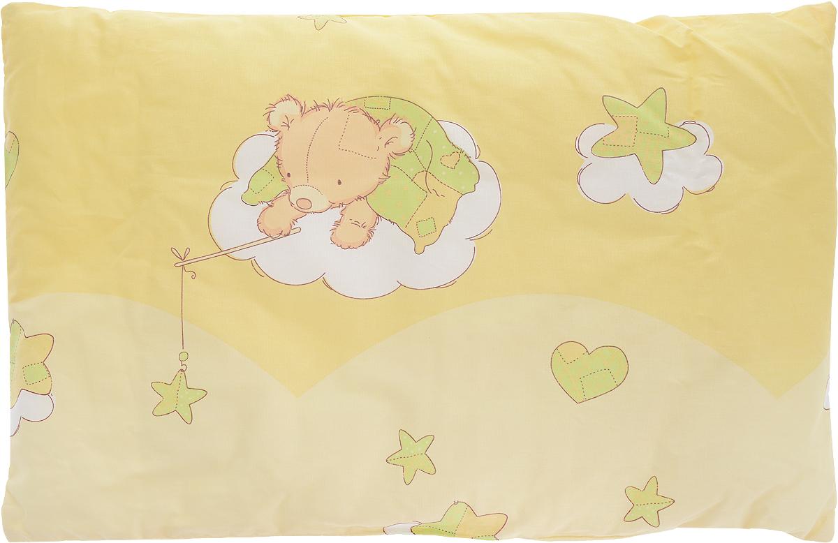 Сонный гномик Подушка детская Мишка на облаке цвет желтый 60 х 40 см