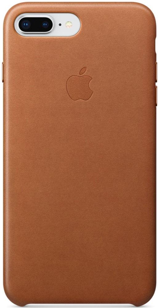 Apple Leather Case чехол для iPhone 7 Plus/8 Plus, Saddle BrownMQHK2ZM/AКожаный чехол для iPhone 8 Plus/7 Plus точно повторяет контуры iPhone, сохраняя его тонкий профиль. Он изготовлен из специально обработанной, приятной на ощупь кожи европейского производства и со временем покрываются благородной патиной. Цвет алюминиевых кнопок идеально подходит к чехлу. А его подкладка из микрофибры защищает корпус iPhone.