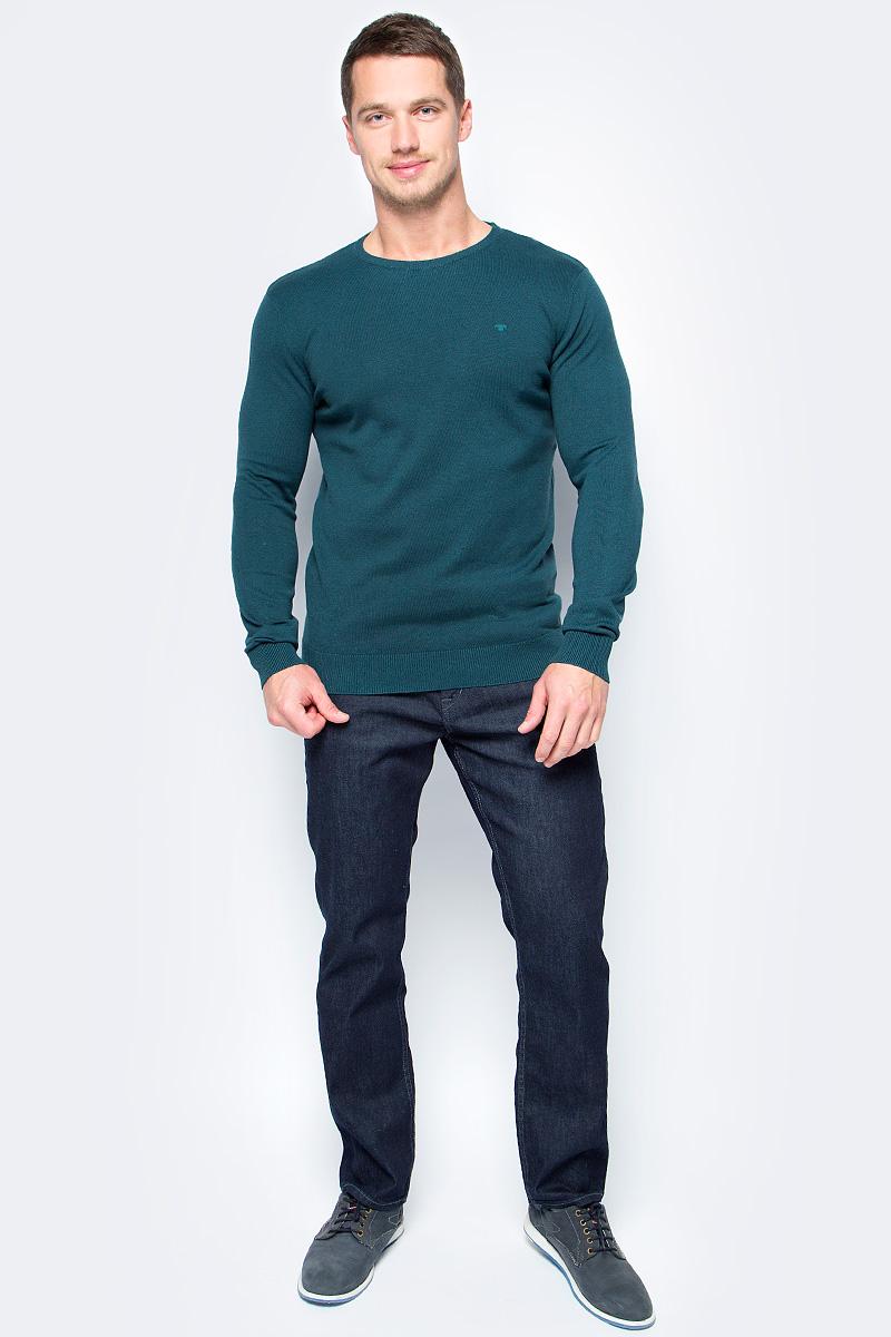 Свитер мужской Tom Tailor, цвет: зеленый. 3022880.00.10_7822. Размер XXL (54)3022880.00.10_7822