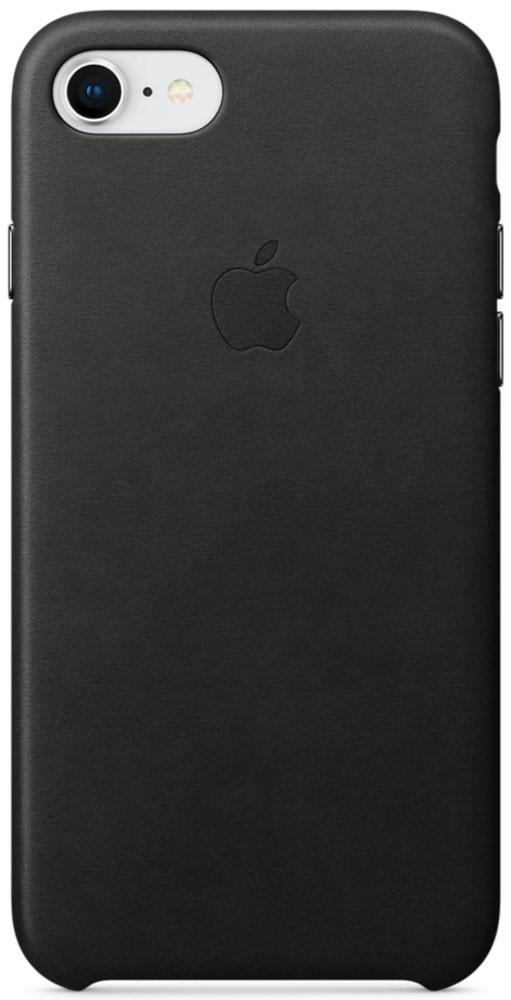 Apple Leather Case чехол для iPhone 7/8, BlackMQH92ZM/AКожаный чехол для iPhone 7/8 точно повторяет контуры iPhone, сохраняя его тонкий профиль. Он изготовлен из специально обработанной, приятной на ощупь кожи европейского производства и со временем покрываются благородной патиной. Цвет алюминиевых кнопок идеально подходит к чехлу. А его подкладка из микрофибры защищает корпус iPhone.