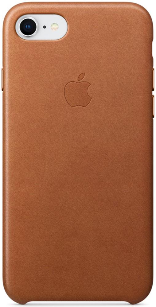 Apple Leather Case чехол для iPhone 7/8, Saddle BrownMQH72ZM/AКожаный чехол для iPhone 7/8 точно повторяет контуры iPhone, сохраняя его тонкий профиль. Он изготовлен из специально обработанной, приятной на ощупь кожи европейского производства и со временем покрываются благородной патиной. Цвет алюминиевых кнопок идеально подходит к чехлу. А его подкладка из микрофибры защищает корпус iPhone.