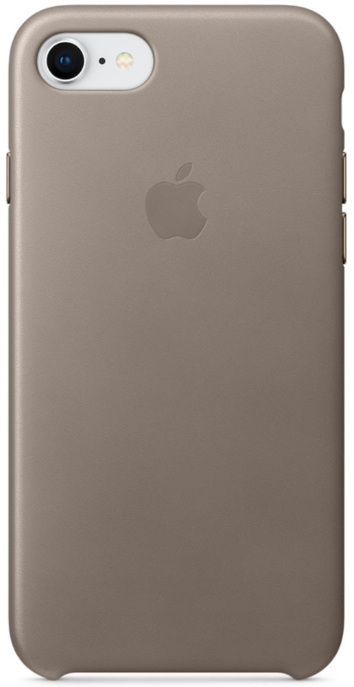 Apple Leather Case чехол для iPhone 7/8, TaupeMQH62ZM/AКожаный чехол для iPhone 7/8 точно повторяет контуры iPhone, сохраняя его тонкий профиль. Он изготовлен из специально обработанной, приятной на ощупь кожи европейского производства и со временем покрываются благородной патиной. Цвет алюминиевых кнопок идеально подходит к чехлу. А его подкладка из микрофибры защищает корпус iPhone.