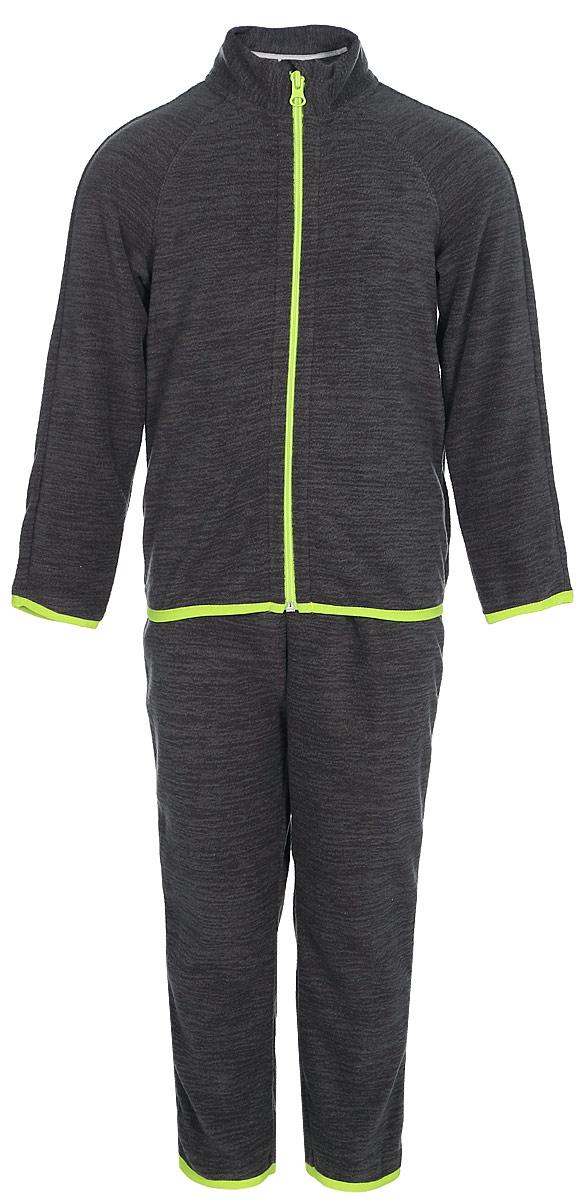 Комплект детский флисовый Oldos Active Инди: кофта, брюки, цвет: светло-серый. 4КС1702. Размер 86, 1,5 года smil кофты