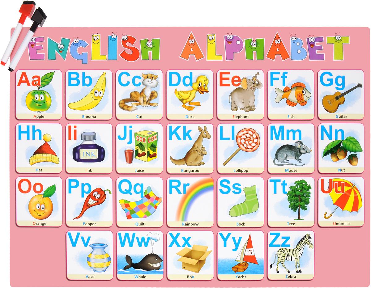 English Alphabet. Учимся писать буквы (+ комплект маркеров) учим английский с героями диснея alphabet алфавит