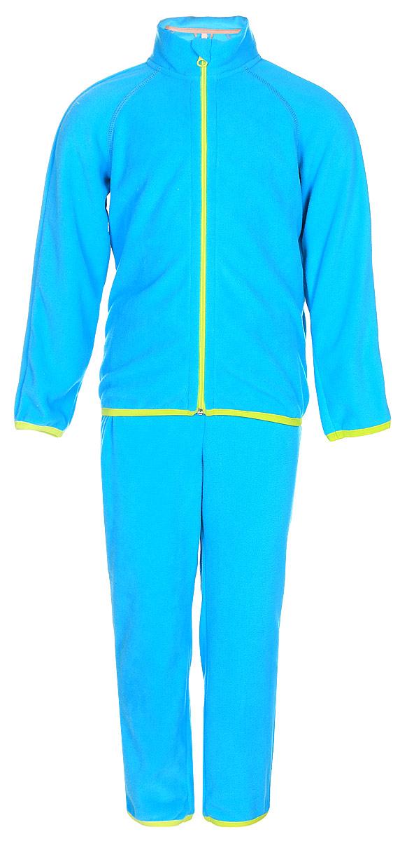 Комплект детский флисовый Oldos Active Инди: кофта, брюки, цвет: ярко-голубой. 4КС1702. Размер 86, 1,5 года oldos комплект джак