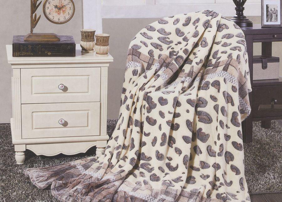 Плед ТД Текстиль Absolute, цвет: бежевый, 150 х 200 см. 8955789557