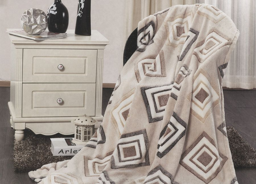 Плед ТД Текстиль Absolute, цвет: серый, 150 х 200 см. 8956089560