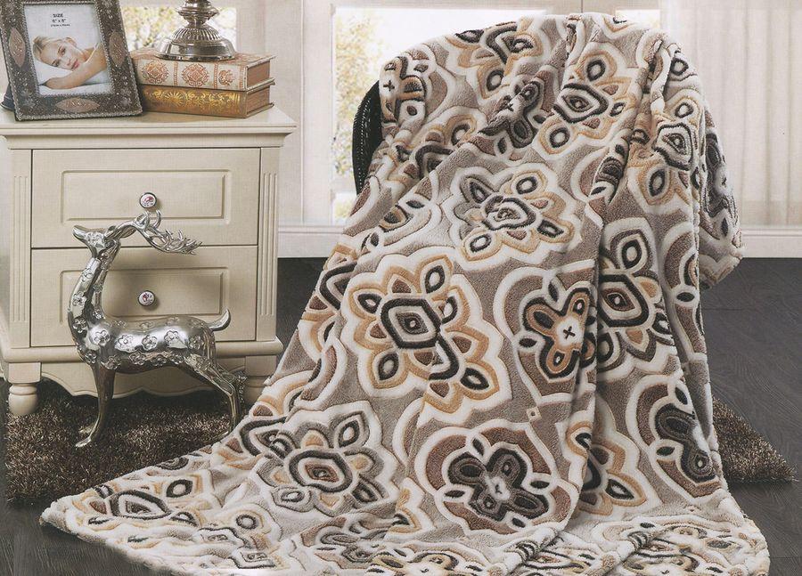 Плед ТД Текстиль Absolute, цвет: серый, 150 х 200 см. 8956389563